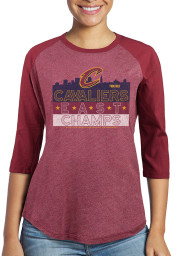 Cleveland Cavaliers Womens Maroon Hometown Champs LS Tee