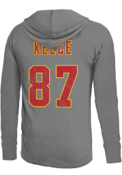 Travis Kelce Kansas City Chiefs Mens Grey Primary Name And Number Player Hood