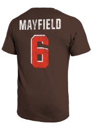 Baker Mayfield Cleveland Browns Brown Primary Name And Number Short Sleeve Fashion Player T Shirt