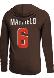 Baker Mayfield Cleveland Browns Mens Brown Primary Name And Number Player Hood