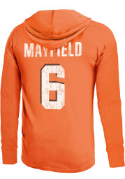 Baker Mayfield Cleveland Browns Mens Orange Primary Name And Number Player Hood