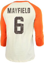 Baker Mayfield Cleveland Browns Orange Primary Name And Number Long Sleeve Player T Shirt