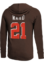 Denzel Ward Cleveland Browns Mens Brown Primary Name And Number Player Hood