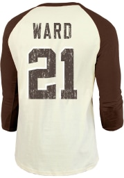 Denzel Ward Cleveland Browns Brown Primary Name And Number Long Sleeve Player T Shirt
