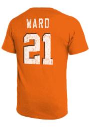 Denzel Ward Cleveland Browns Orange Primary Name And Number Short Sleeve Fashion Player T Shirt