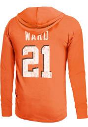Denzel Ward Cleveland Browns Mens Orange Primary Name And Number Player Hood