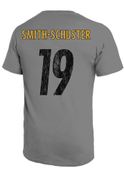 JuJu Smith-Schuster Pittsburgh Steelers Grey Primary Name And Number Short Sleeve Fashion Player T Shirt