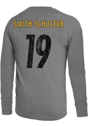 JuJu Smith-Schuster Pittsburgh Steelers Grey Primary Name And Number Long Sleeve Player T Shirt