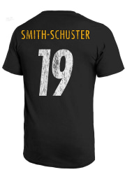 JuJu Smith-Schuster Pittsburgh Steelers Black Primary Name And Number Short Sleeve Fashion Player T Shirt