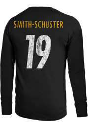 JuJu Smith-Schuster Pittsburgh Steelers Black Primary Name And Number Long Sleeve Player T Shirt