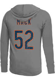 Khalil Mack Chicago Bears Mens Grey Primary Name And Number Player Hood