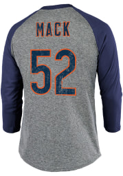 Khalil Mack Chicago Bears Grey Primary Name And Number Long Sleeve Player T Shirt