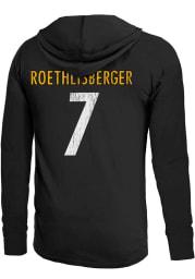 Ben Roethlisberger Pittsburgh Steelers Mens Black Primary Name And Number Player Hood