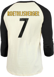 Ben Roethlisberger Pittsburgh Steelers Black Primary Name And Number Long Sleeve Player T Shirt