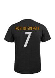 Ben Roethlisberger Pittsburgh Steelers Black Player Short Sleeve Fashion Player T Shirt