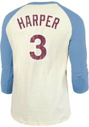Bryce Harper Philadelphia Phillies White Softhand 3/4 Long Sleeve Player T Shirt
