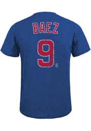 Javier Baez Chicago Cubs Blue Name And Number Short Sleeve Fashion Player T Shirt