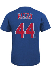 Anthony Rizzo Chicago Cubs Blue Name And Number Short Sleeve Fashion Player T Shirt