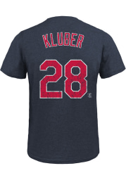 Corey Kluber Cleveland Indians Navy Blue Triblend Name and Number Short Sleeve Fashion Player T Shirt