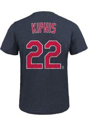 Jason Kipnis Cleveland Indians Navy Blue Triblend Name and Number Short Sleeve Fashion Player T Shirt