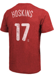 Rhys Hoskins Philadelphia Phillies Red Name And Number Short Sleeve Fashion Player T Shirt