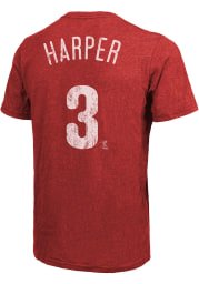 Bryce Harper Philadelphia Phillies Red Name And Number Short Sleeve Fashion Player T Shirt
