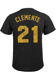 Roberto Clemente Pittsburgh Pirates Black Name And Number Short Sleeve Fashion Player T Shirt