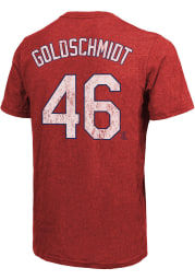 Paul Goldschmidt St Louis Cardinals Red Name And Number Short Sleeve Fashion Player T Shirt