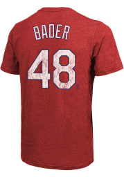 Harrison Bader St Louis Cardinals Red Name And Number Short Sleeve Fashion Player T Shirt