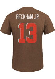 Odell Beckham Jr Cleveland Browns Brown Name And Number Short Sleeve Fashion Player T Shirt