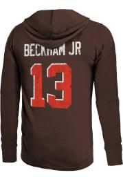 Odell Beckham Jr Cleveland Browns Mens Brown Name And Number Player Hood
