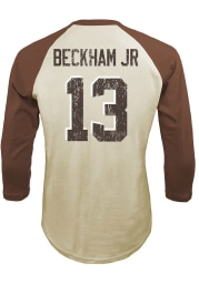 Odell Beckham Jr Cleveland Browns White Name And Number Long Sleeve Player T Shirt
