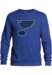 St Louis Blues Mens Blue Primary Logo Long Sleeve Fashion Sweatshirt