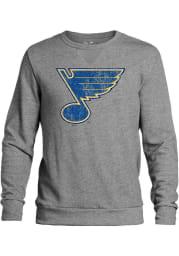 St Louis Blues Mens Grey Primary Logo Long Sleeve Fashion Sweatshirt