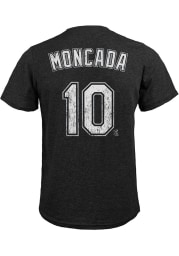 Yoan Moncada Chicago White Sox Black Name And Number Short Sleeve Fashion Player T Shirt