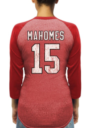 Patrick Mahomes Kansas City Chiefs Womens Red Name and Number Triblend Long Sleeve Player T Shirt