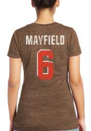 Baker Mayfield Cleveland Browns Womens Brown Name and Number Triblend Player T-Shirt