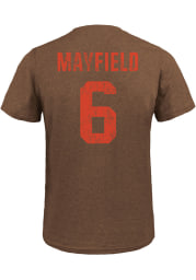 Baker Mayfield Cleveland Browns Brown Name And Number Short Sleeve Fashion Player T Shirt