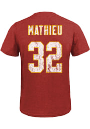 Tyrann Mathieu Kansas City Chiefs Red Name And Number Short Sleeve Fashion Player T Shirt
