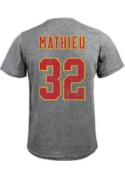 Tyrann Mathieu Kansas City Chiefs Grey Name And Number Short Sleeve Fashion Player T Shirt