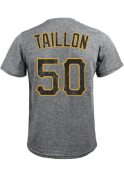 Pittsburgh Pirates Grey Name and Number Short Sleeve Fashion T Shirt