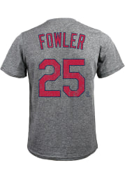 Dexter Fowler St Louis Cardinals Grey Name and Number Short Sleeve Fashion T Shirt