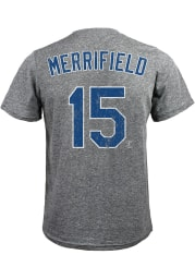 Whit Merrifield Kansas City Royals Grey Name and Number Short Sleeve Fashion T Shirt
