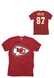 Travis Kelce Kansas City Chiefs Red Tri-Blend Short Sleeve Fashion Player T Shirt