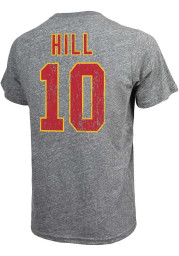 Tyreek Hill Kansas City Chiefs Grey Name and Number Short Sleeve Fashion Player T Shirt