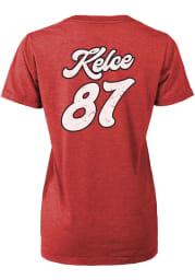 Travis Kelce Kansas City Chiefs Womens Red Boyfriend Player T-Shirt