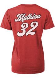 Tyrann Mathieu Kansas City Chiefs Womens Red Boyfriend Player T-Shirt