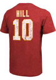 Tyreek Hill Kansas City Chiefs Red Name and Number Short Sleeve Fashion Player T Shirt