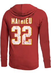 Tyrann Mathieu Kansas City Chiefs Mens Red Primary Name and Number Player Hood
