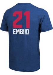 Joel Embiid Philadelphia 76ers Blue Aldo Short Sleeve Fashion Player T Shirt